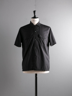 Sans Limite | S2001331 SH03BH Black 極太ステッチ大開襟ボックス半袖シャツの商品画像