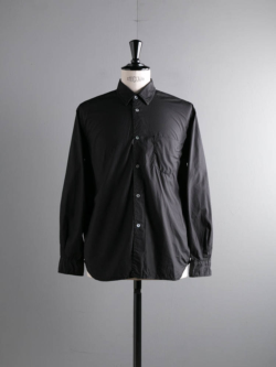 Sans Limite | S2001111 SH01B Black 極太0番ステッチボックスレギュラーカラーシャツの商品画像