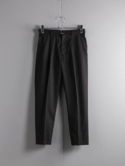 BELTED 1TUCK LIGHT TROUSERS Black