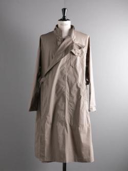 ENGINEERED GARMENTS | MG COAT – NYCO MINI TATTERSALL Khaki MGコートの商品画像