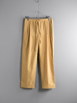 FRANK LEDER | TRIPLE WASHED THIN COTTON DRAWSTRING TROUSERS 55:Yellow トリプルウォッシュコットンドロストパンツの商品画像