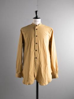 FRANK LEDER | TRIPLE WASHED THIN COTTON STAND COLLAR SHIRT 55:Yellow トリプルウォッシュコットンスタンドカラーシャツの商品画像