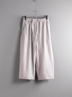 TRIPLE WASHED THIN COTTON WIDE TROUSERS 95:Grey