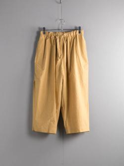 FRANK LEDER | TRIPLE WASHED THIN COTTON WIDE TROUSERS 55:Yellow トリプルウォッシュコットンワイドパンツの商品画像