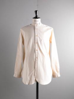 FRANK LEDER | VINTAGE BEDSHEET STAND COLLAR SHIRT 80:Natural ベッドシーツスタンドカラーシャツの商品画像