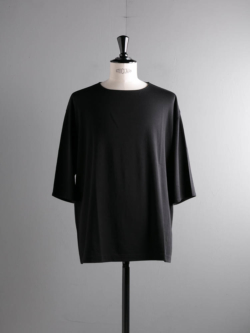 smoothday | SR-T007-003 Black ディオラマスムスナンナUNISEX七分袖オーバーTシャツの商品画像