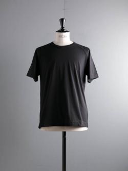 smoothday | SA-T052-001 Black テクノラマ天竺ラグラン半袖Tシャツの商品画像