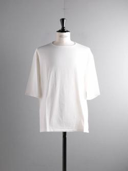 smoothday | SA-T002-001 Off White テクノラマ天竺UNISEX七分袖オーバーTシャツの商品画像