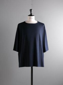 smoothday | SR-T007-003 Navy ディオラマスムスナンナUNISEX七分袖オーバーTシャツの商品画像