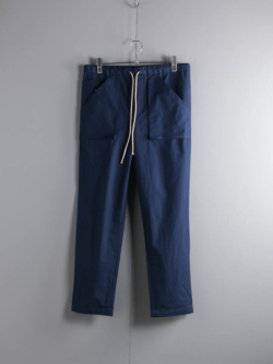 FRANK LEDER | VINTAGE BEDSHEET DRAWSTRING TROUSERS WITH GUSSET POCKET 39:Navy ベッドシーツアウトポケットパンツの商品画像