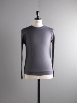 YINDIGO A M | AK006 AIR-KNIT L/S CREW T Anthracite エアニット長袖Tシャツ