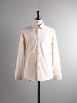 FRANK LEDER | VINTAGE BEDSHEET PLAIN SHIRT 80:Natural ベッドシーツプレーンシャツの商品画像