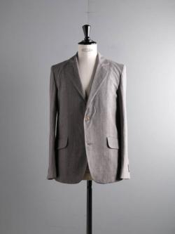 FRANK LEDER | LIGHT GREY COTTON 2B JACKET 95:Grey コットンテーラードジャケットの商品画像