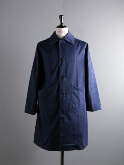 YARMO | DUSTER COAT BRISBANE MOSS COTTON Navy ダスターコートの商品画像