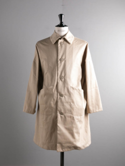 YARMO | DUSTER COAT BRISBANE MOSS COTTON Putty ダスターコートの商品画像