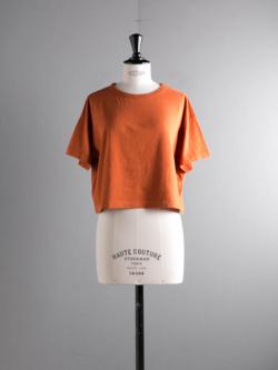 FilMelange | LENE Brick オーガニックラフィー天竺クロップドTシャツ レーネの商品画像