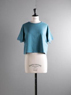 FilMelange | LENE Sea Blue オーガニックラフィー天竺クロップドTシャツ レーネの商品画像