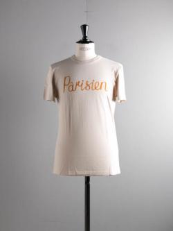 MAISON KITSUNE | TEE SHIRT PARISIEN Beige 半袖プリントTシャツの商品画像