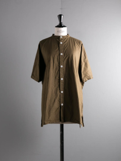 SIDE OPEN S/SLV SHIRTS COTTON CAMBRIC Khaki
