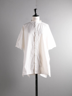 SIDE OPEN S/SLV SHIRTS COTTON CAMBRIC White