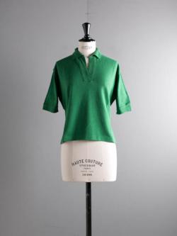FilMelange | COEN Viridian コットンウール梨地ポロシャツ コーエンの商品画像