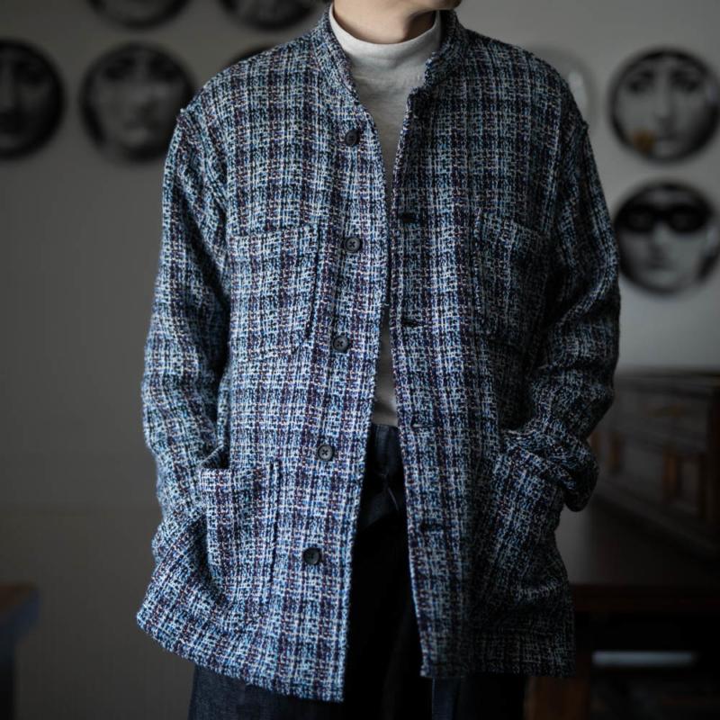 エンジニアードガーメンツ POLY TWEED Blue デイトンシャツの通販取扱