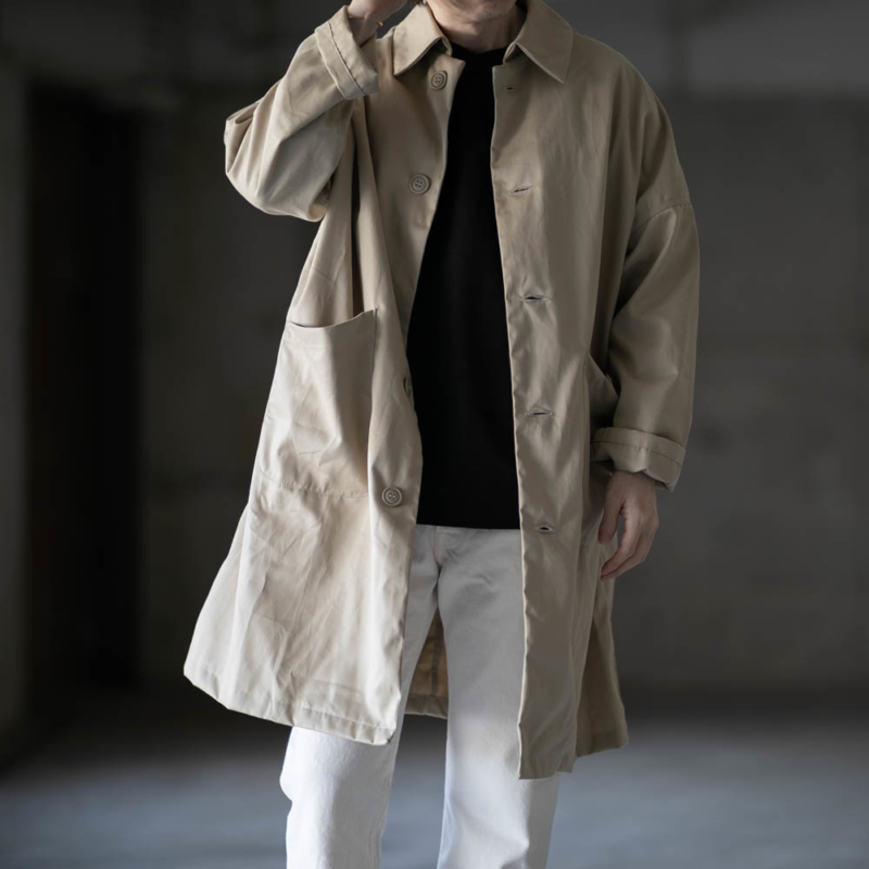 YARMO(ヤーモ) 2020ss DUSTER COAT BRISBANE MOSS beige 通販取扱