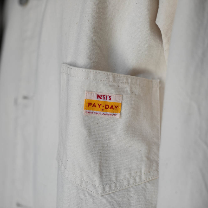 ウエストオーバーオールズ コットンコート 生成り色の通販取扱