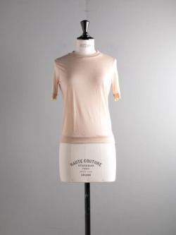 ABOUT | BURTASTOP Nude テンセルウールクルーネックTシャツの商品画像