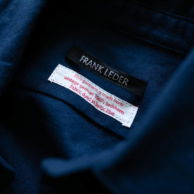 FRANK LEDER BALTIC BLUE DYED BEDSHEET SHIRT