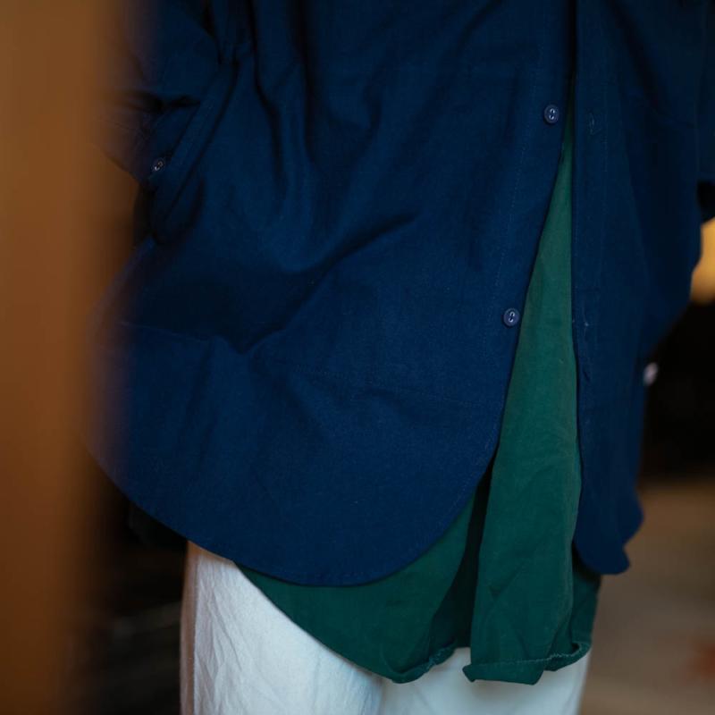 フランクリーダー ベッドリネンサイドポケット付きシャツ