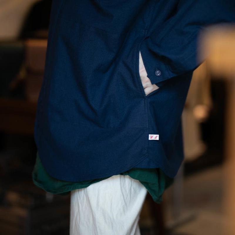 フランクリーダー バルティックブルーサイドポケットシャツ
