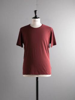 smoothday | SR-T056-001 Bordeaux コズモラマ天竺クルーネック半袖Tシャツの商品画像