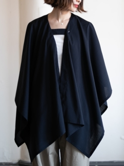 ENGINEERED GARMENTS | BUTTON STOLE – TROPICAL WOOL Dk. Navy ボタンショール