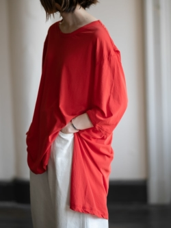 smoothday   SR-T015-001 Orange コズモラマ天竺UNISEXバックタックTシャツ