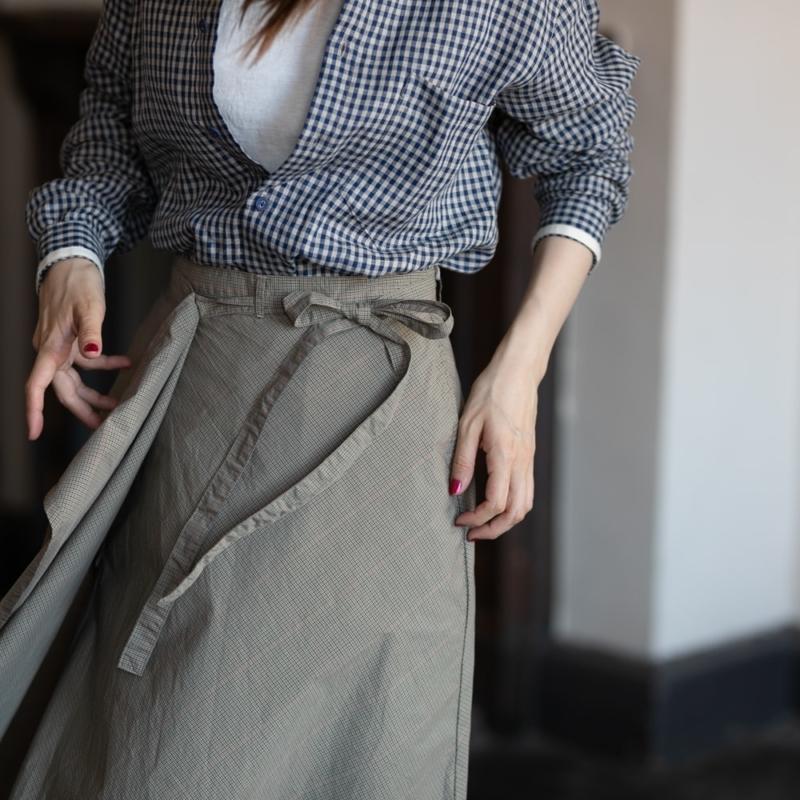 ガーメンツ 巻きスカート タッターソールチェックの通販取扱店