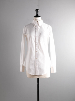 THOM BROWNE | CLASSIC LONG SLEEVE BUTTON BOUTTON DOWN SHIRT white ロングスリーブ  ボタンダウンシャツの商品画像
