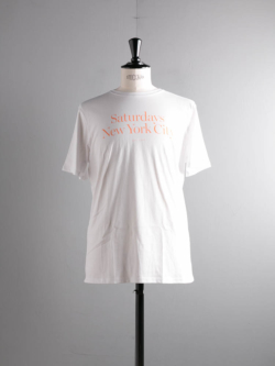 Saturdays NYC | MILLER STANDARD S/S TEE White プリントTシャツの商品画像