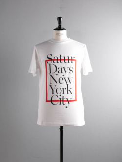Saturdays NYC | SATURDAYS BOX White プリントTシャツの商品画像