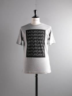 Saturdays NYC | SATURDAYS BLOCK Grey プリントTシャツの商品画像