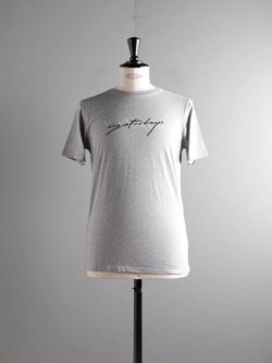Saturdays NYC | SCRIPT OVERLAY S/S TEE Grey プリントTシャツの商品画像