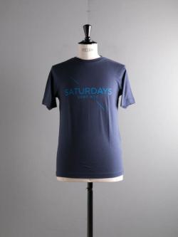 その他のBRAND | Saturdays NYC / LOGO PRINTED T SHIRT Navy プリントTシャツの商品画像