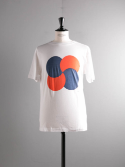 Saturdays NYC | CIRCLE ROTATION PRINTED T SHIRT White プリントTシャツの商品画像