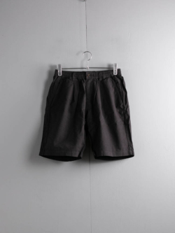 Saturdays NYC | KEIGO CREPE SHORT Black コットンクレープショーツ