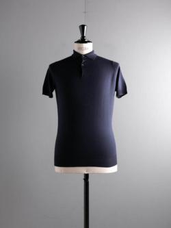 JOHN SMEDLEY | PAYTON Midnight ウール半袖ポロシャツの商品画像