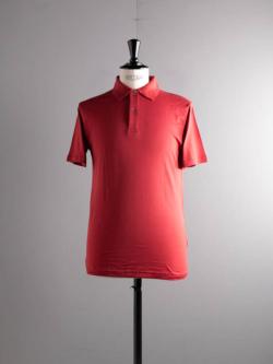 SUNSPEL | LONG-STAPLE COTTON POLO SHIRT Red 半袖ポロシャツの商品画像