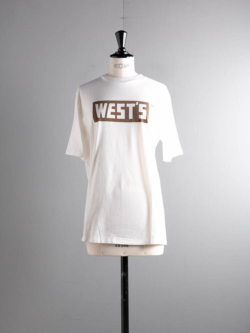 Westoveralls | WEST'S T-SHIRT Brown ロゴTシャツ