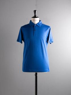 SUNSPEL | LONG-STAPLE COTTON POLO SHIRT Blue 半袖ポロシャツの商品画像
