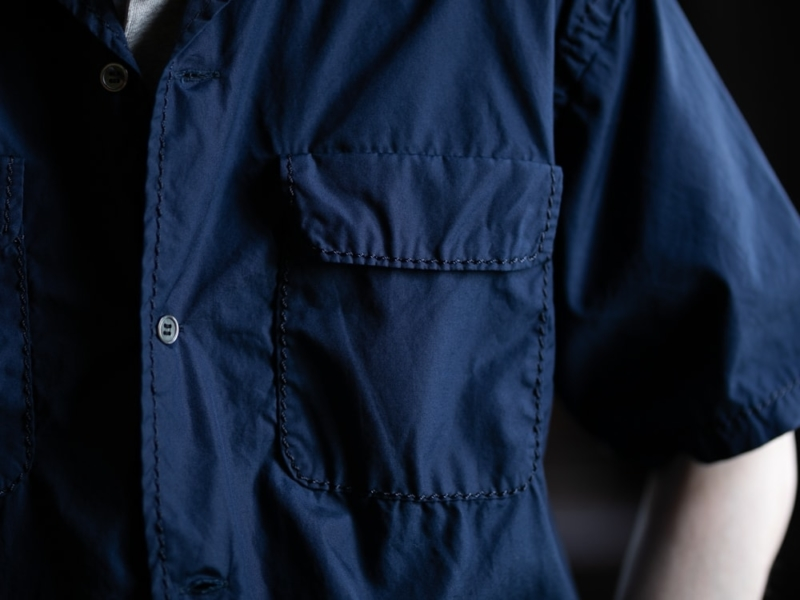 サンリミット 0番ステッチ大開襟ボックス半袖シャツの通販取扱店