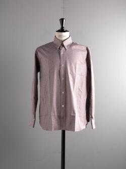 Sans Limite | W2001124 SH02B Brown Check ツイルチェックボックスボタンダウンシャツの商品画像